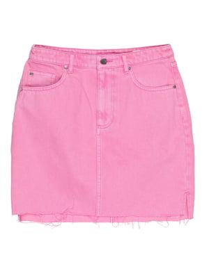 Юбка розовая джинсовая | 5324186