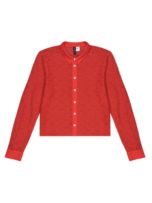 Блуза красная с узором   5324192