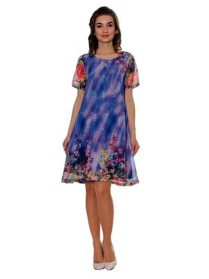 Сукня блакитна в принт   5455427