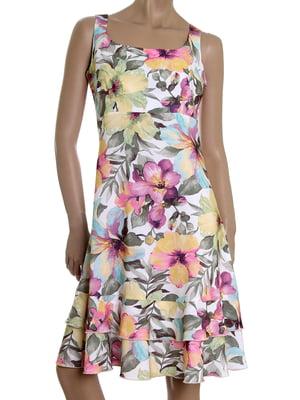 Платье розовое в принт | 5455438