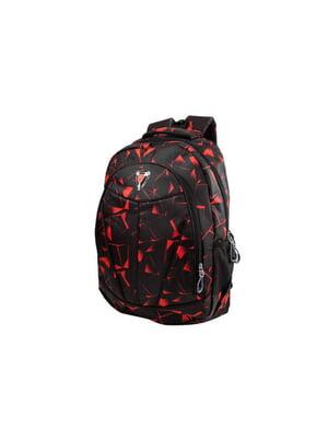 Рюкзак чорний з принтом | 5456097