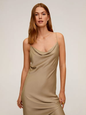 Платье бежевое | 5454645