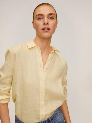 Рубашка лимонного цвета | 5454727