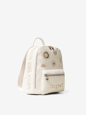 Рюкзак бежевый с декором | 5455199
