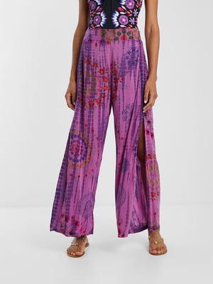 Штани пляжні фіолетові з принтом | 5455237