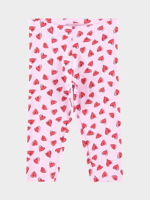 Леггинсы розовые с принтом | 5455040