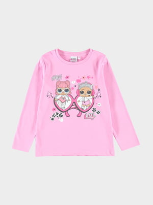 Джемпер розовый с принтом | 5455060