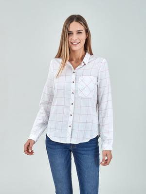 Рубашка белая в клетку | 5455285