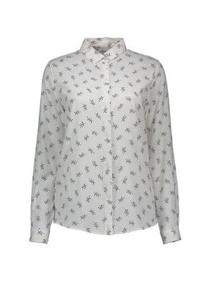 Рубашка белая с принтом | 5455288