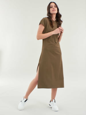 Сукня оливкового кольору | 5455306