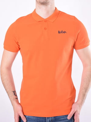 Футболка-поло морковного цвета | 5455518