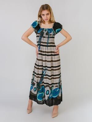 Сукня триколірна в принт | 5452073