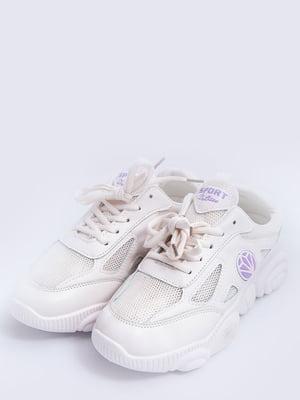Кросівки молочно-бузкові | 5456564