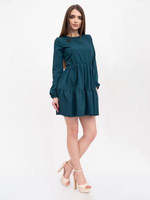 Платье темно-зеленое | 5456609
