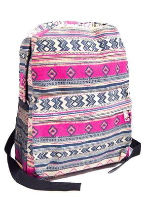 Рюкзак рожевий з орнаментом | 5456614