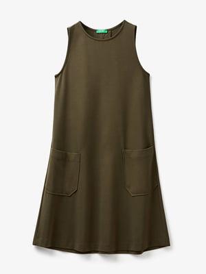 Сукня кольору хакі | 5456466