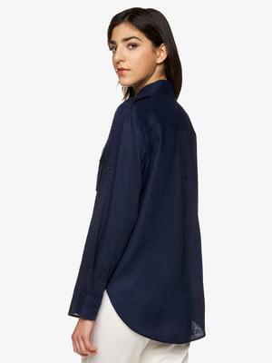 Рубашка темно-синяя | 5456485