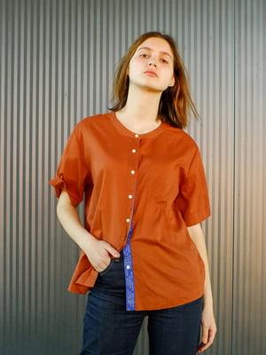 Рубашка терракотового цвета | 5456501