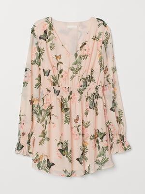 Блуза для беременных розовая в принт | 5450613