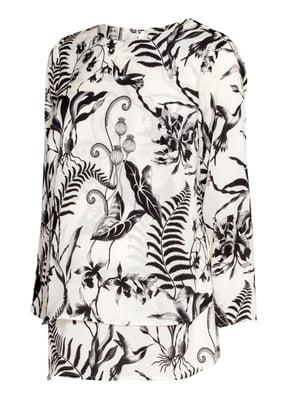 Блуза для беременных молочного цвета с принтом | 5450633