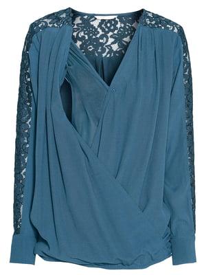 Блуза для беременных синяя | 5456946