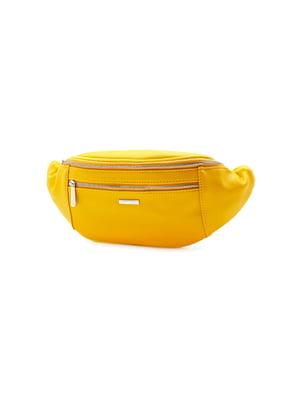 Сумка на пояс желтая | 5386156