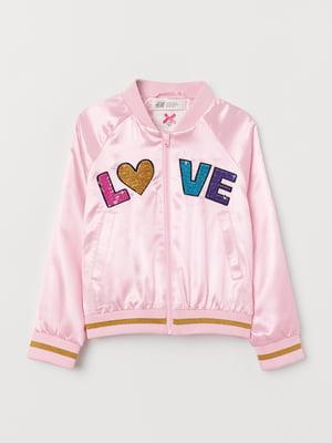 Бомбер розовый | 5435265