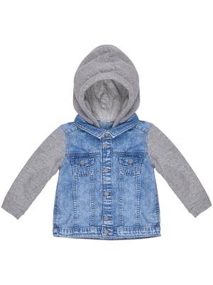 Куртка сіро-синя | 5446747