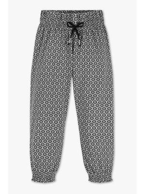 Штани чорно-білі з візерунком | 5457797
