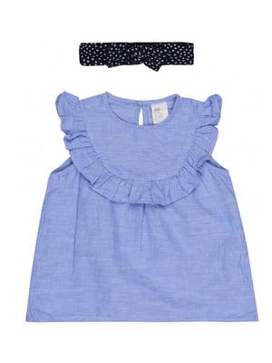 Блуза голубая   5457842