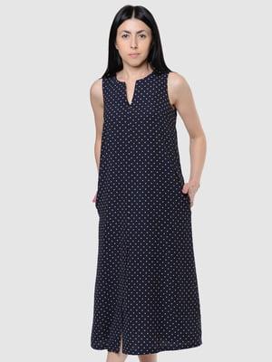 Платье синее в горох | 5458338