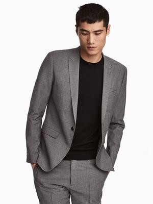 Пиджак цвета черный меланж | 5449995