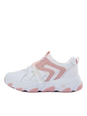 Кросівки біло-рожеві | 5458688