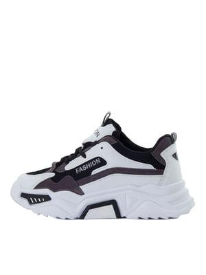 Кросівки біло-чорні | 5458691
