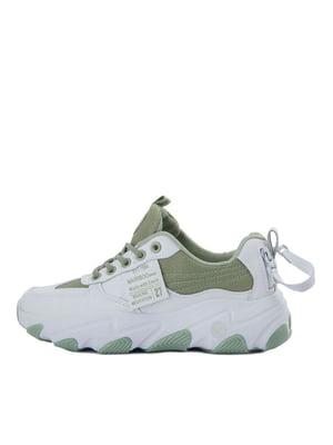Кросівки біло-зелені | 5458699