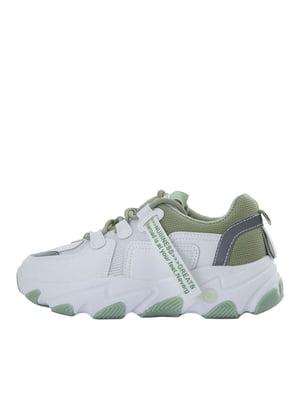 Кросівки біло-зелені | 5458702