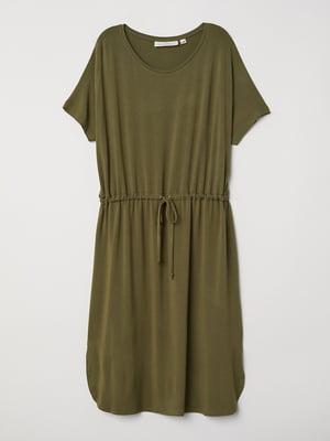 Сукня кольору хакі   5460103