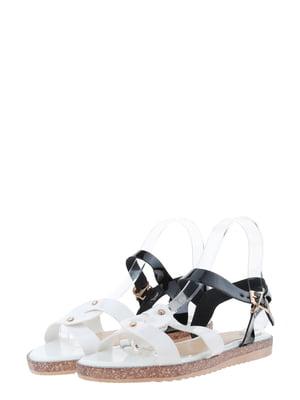 Сандалии бело-черные | 5435825