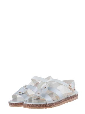 Сандалии серебристо-белые | 5435826