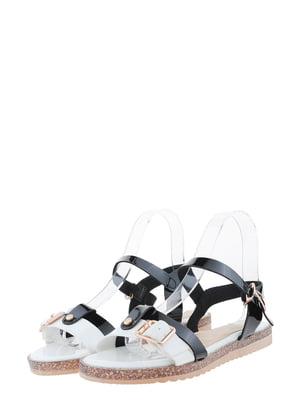 Сандалии бело-черные | 5435836