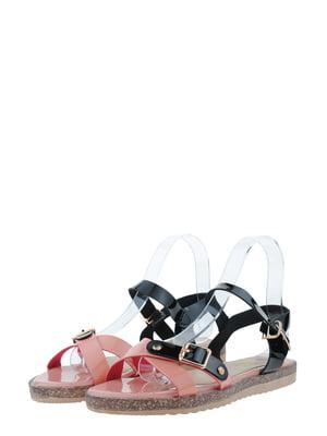 Сандалии розово-черные | 5435845