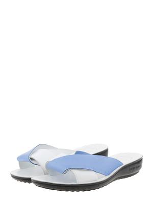 Шльопанці біло-блакитні   5444255