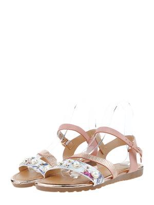 Сандалии розово-белые | 5444423