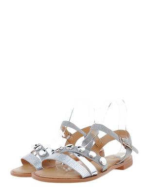 Сандалии серебристо-белые | 5444425