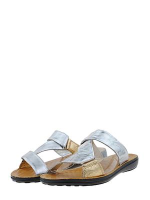 Шльопанці сріблясто-золотаві   5451028