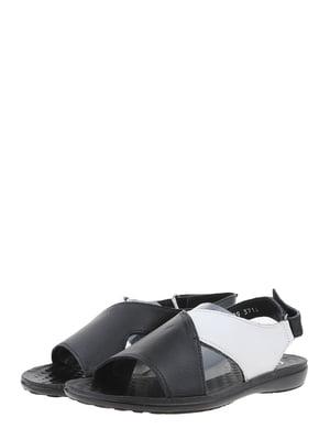 Сандалии черно-белые | 5451065