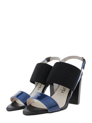 Босоніжки синьо-чорні   5459766