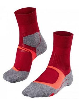 Носки серо-красные | 5460278
