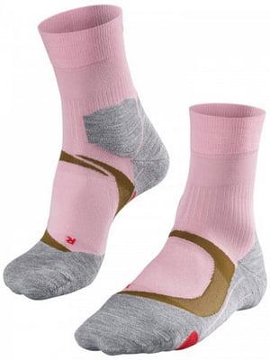 Шкарпетки сіро-рожеві | 5460286