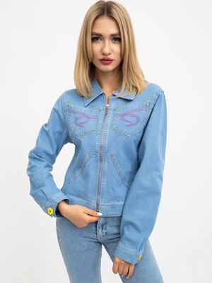 Куртка світло-блакитна | 5461782